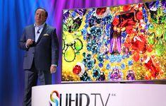 Samsung reveló durante Samsung Forum 2015, en Mónaco, una línea extensa de SUHD TV, definiendo un nuevo estándar en contenido premium UHD Samsung Smart Tv, Gadgets, Painting, Innovative Products, Painting Art, Paintings, Drawings, Tech Gadgets