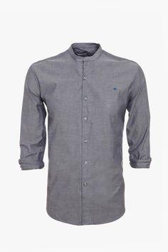 Camisa chambray mao - cuello mao | Adolfo Dominguez shop online