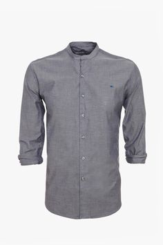 Camisa chambray mao - cuello mao | Adolfo Dominguez shop online