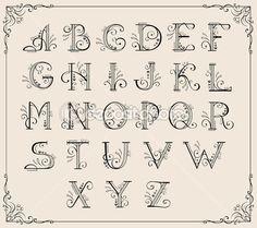 alphabet calligraphie — Illustration #5743583