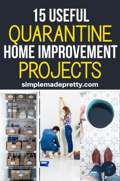 15 Easy Home Improvement Projects You Can Do While in Quarantine Spring Projects, Home Projects, I Spy Diy, Décor Boho, Craft Organization, Project Yourself, Diy On A Budget, Home Look, Home Improvement Projects