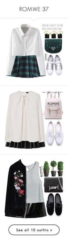 """ROMWE 37"" by m-zineta ❤ liked on Polyvore featuring WithChic, MANGO, Tod's, INC International Concepts, Daniel Wellington, Links of London, Miguelina, CB2, vintage and MTWTFSS Weekday"