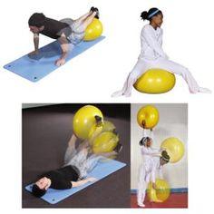 Gymdonut, ideaal om mee te rollen, op te zitten, te liggen, als skippybal te gebruiken. Veelzijdiger dan een gymbal en zeker leuker
