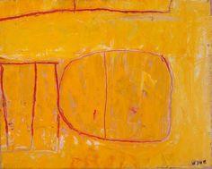 William Scott - Yellow Matrix (1960s) Yellow Matrix, 1962, Oil on canvas, 40 x 50cm Fermanagh County Museum at Enniskillen Castle