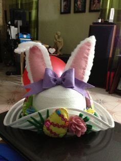 Easter hat easy to make with felt