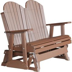 LuxCraft 2 Foot Adirondack Recycled Plastic Glider Chair | Pinterest | Glider  Chair, Gliders And Porch Swings