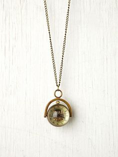 Free People- Sapphire Globe Necklace