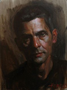 Ivan's Portrait by Frade, oil on canvas, 30 x 40.
