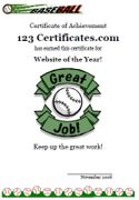 Baseball certificate templates baseball award certificate baseball certificate templates for kids yadclub Gallery