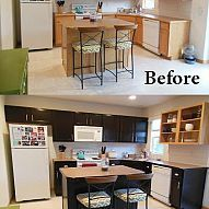 kitchen cabinets in just a few days with gel stain and…