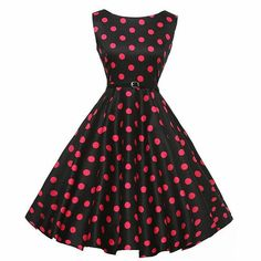YUNY Women Waist Dot Dresses Fashion Retro ** Visit the image link more details. (This is an affiliate link and I receive a commission for the sales)