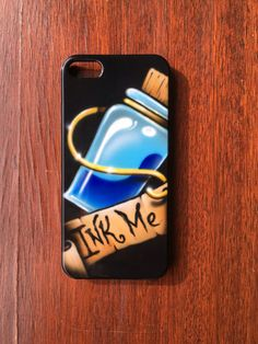Alice in Wonderland inspired Tattoo Art Iphone 5 Iphone SE Custom Phone Case