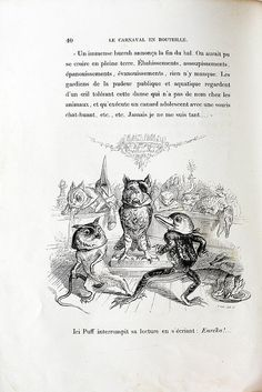 J.J. Grandville - (anthropomorphic animals wearing the heads of other animals = extreme anthropomorphism :)