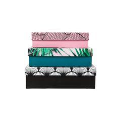 3 boites rectangulaires Cristina Cordula pour TATI 9€99 #TatiByCristina #CristinaCordula #TATI #boites #box #deco #decoration #exotic #tropical #jungle #inspiration Decoration, Continental Wallet, Exotic, Boutique, Diy, Bags, Inspiration, Collection, Dekoration