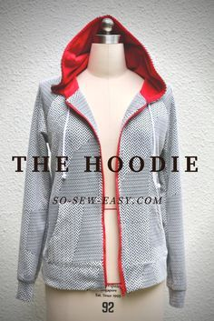 A semi fitted super easy to make free hoodie pattern and tutorial. Explore with different knitted fabrics for different looks.