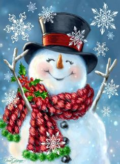 Are you looking for ideas for christmas pictures?Check out the post right here for perfect Xmas ideas.May the season bring you serenity. Christmas Squares, Christmas Canvas, Christmas Paintings, Christmas Projects, Holiday Crafts, Snowmen Paintings, Wall Paintings, Christmas Scenes, Christmas Images