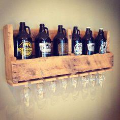 Distressed Growler Display Shelf with by ConeyIslandBuilders: