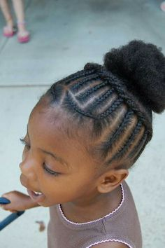 Kids Hairstyles Braids : 60 Braids for Kids: 60 Braid Styles for Girls - Hairstyles Trends Network : Explore & Discover the best and the most trending hairstyles and Haircut Around the world Black Baby Girl Hairstyles, Toddler Braided Hairstyles, Toddler Braids, Natural Hairstyles For Kids, Braids For Kids, Girls Braids, Cool Hairstyles, Braid Hairstyles, Children Braids