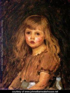 Portrait of a Girl - John William Waterhouse - www.johnwilliamwaterhouse.net