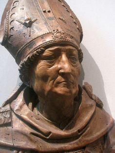 A wood carving in The Cloisters' connection of medieval art. I Bishop | Flickr - Photo Sharing!