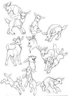 Goat sounds by malin falch goat sound, goat cartoon, animal Animal Sketches, Animal Drawings, Cool Drawings, Drawing Sketches, Drawing Animals, Drawing Reference Poses, Drawing Poses, Art Reference, Goat Cartoon