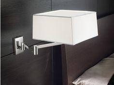 Lámpara de pared de latón cromado con brazo articulado CARRÉ   Lámpara de pared - PANZERI