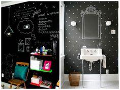 Parede de lousa. #parededelousa #decoração #DIY