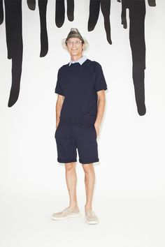 Short Sleeve Pullover  Band of Outsiders   Spring 2015 Menswear Collection   Style.com