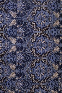 Honeycomb textile design produced for both 3-ply carpeting and fabric by William Morris, 1876 | Wiki