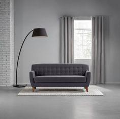 Trendiges Sofa in Dunkelgrau  - ein Klassiker in trendiger Optik