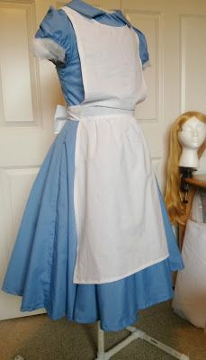 How to make an adult Alice in Wonderland dress and apron costume.