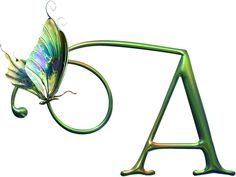 Alfabeto caprichoso de mariposas.