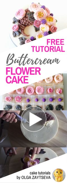 HOT CAKE TRENDS How to make Buttercream horn of plenty / Cornucopia cake - Cake decorating tutorial by Olga Zaytseva. Learn how to make buttercream David Austin roses also known as English Roses and create this quick and easy Thanksgiving horn of plenty flower cake.