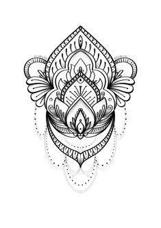 Mandala Thigh Tattoo, Mandala Tattoo Design, Tattoo Designs, Tattoo Sketches, Tattoo Drawings, Birthday Tattoo, Muster Tattoos, Printable Adult Coloring Pages, Tribal Tattoos
