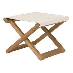 Copacabana Footrest with Batyline : Tables Designers creations - Tectona
