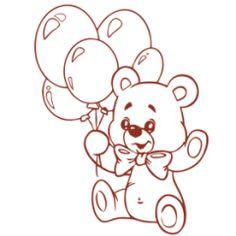 Teddy bear wall decal No7 Balloons