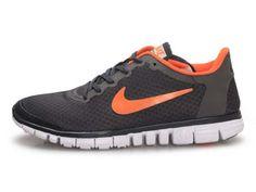 Nike Free 3.0 Chaussures De Course Pour Homme Orange Noir Blanc En Vente €58,05