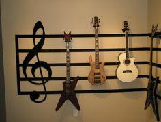Great Room Guitar Display