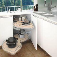 """Rev-A-Shelf® Maple 2-Tier Blind Corner Shelf for Left 18"""" Opening"""