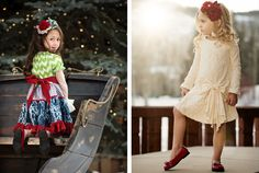 www.frostedproductions.com | #utah #photographer #commercial #photography #little #girl #holiday #fashion #christmas #pine #trees #sleigh #ride #beautiful #lighting