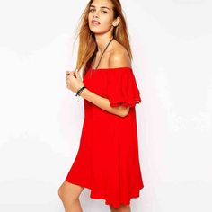 Best Ruffle Off The Shoulder Dress Products on Wanelo