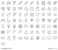 iOS general icons