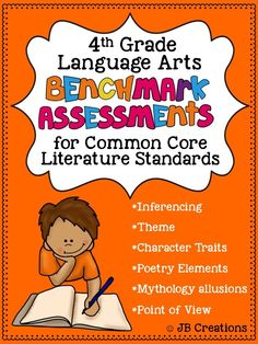 Easily monitor student growth in the 4th grade Common Core standards of literature with this set of LA benchmark assessments!  This set features 6 separate, evidence-based assessments  aligned to the Literature standards.  Standards assessed include theme, inferencing, point of view, character traits, mythology allusions, & poetry elements. https://www.teacherspayteachers.com/Product/4th-Grade-Benchmark-Assessments-for-Common-Core-LA-Literature-Standards-1858131