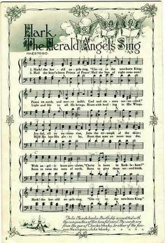 Music sheet printable. Hark the herald angels sing