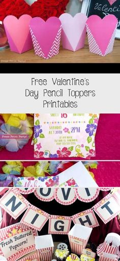 Free Valentine's Day Pencil Toppers Printables - Valentines Day Gifts Ideas Valentines Day Activities, Valentines Day Party, Valentine Crafts, Valentines Word Search, Valentine Words, Valentine's Day Gift Baskets, Valentinstag Party, Pencil Toppers, Free Printable