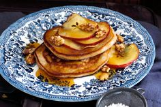 Served these ricotta pancakes with maple-glazed apples for scrumptious weekend breakfast.