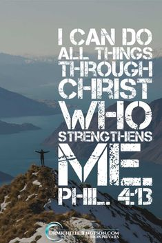 "The enemy doesn't want me moving forward in my destiny, but Scripture says, ""I can do all things through Christ who strengthens me."" God wants us to take the next step. When we do, He'll give us strength for the next one. #JesusChrist #faith #trust"
