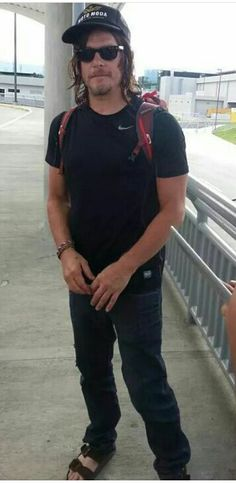 Norman Reedus coming home from Costa Rica.