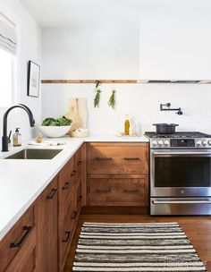 After years of shooting other people's houses, photographer Valerie Wilcox sees her own kid-friendly kitchen have its moment in the spotlight. Home Decor Kitchen, Interior Design Kitchen, New Kitchen, Home Kitchens, Kitchen Dining, Custom Kitchens, Updated Kitchen, Timber Kitchen, Wood Kitchen Cabinets