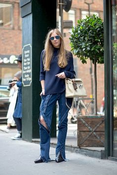 Street Style: What To Pair With Deconstructed Denim